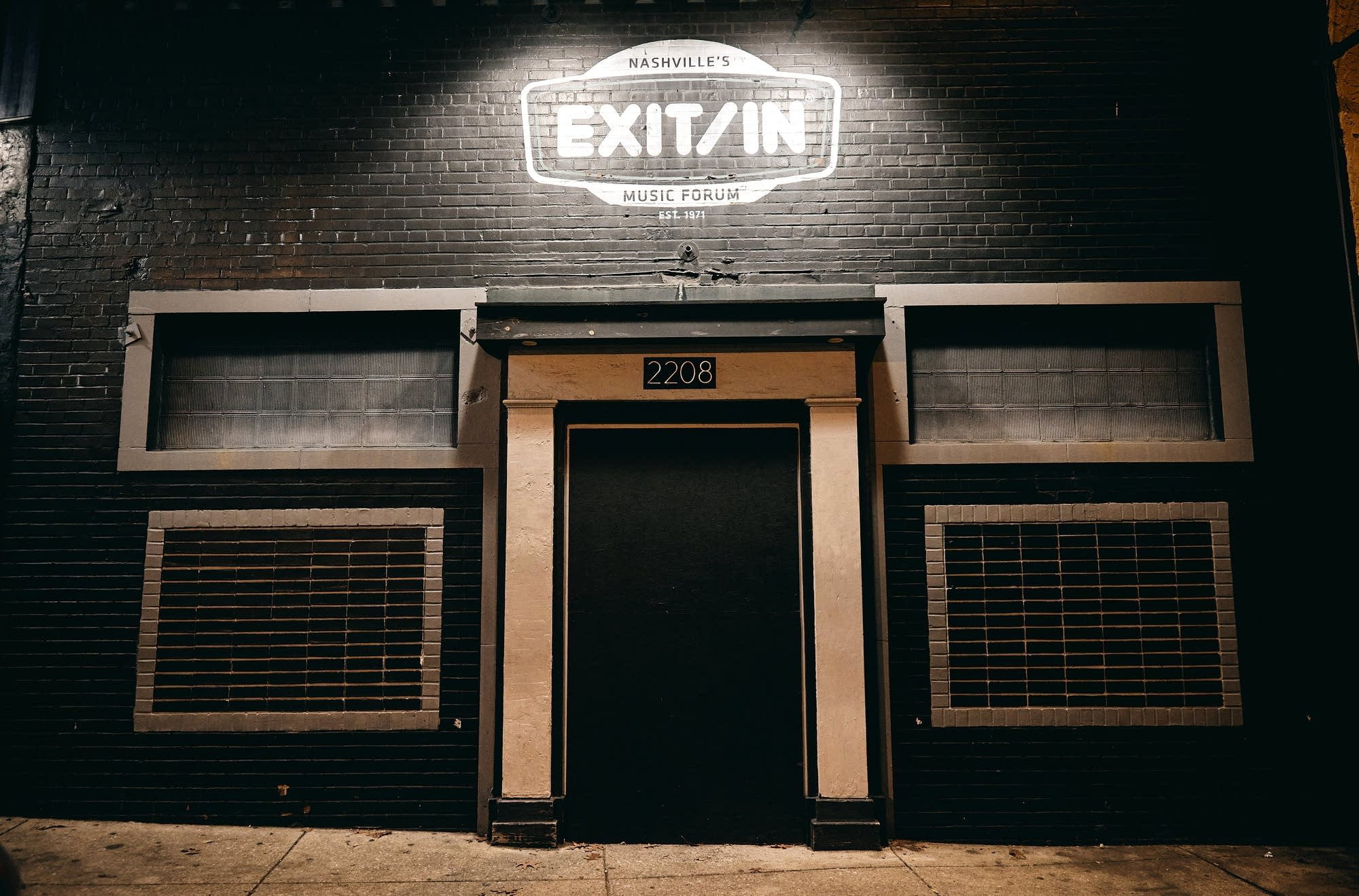 The exterior of Nashville's iconic Exit/In in February 2021