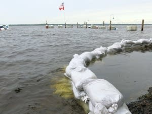 Rainy Lake continued to rise Friday afternoon.