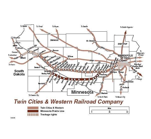 Rail service map