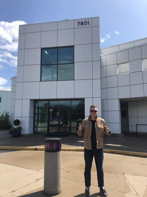 Luke outside Paisley Park