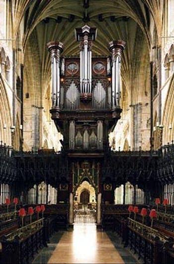 1891 Willis organ at Exeter Cathedral, England, UK