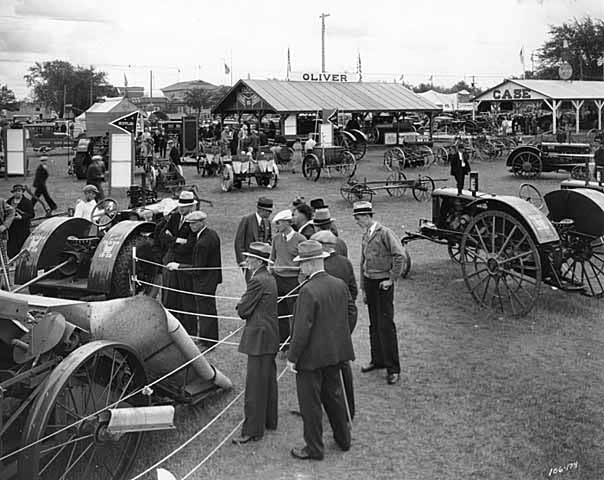 Oliver Stover Machinery exhibit, Machinery Hill, State Fair, 1934