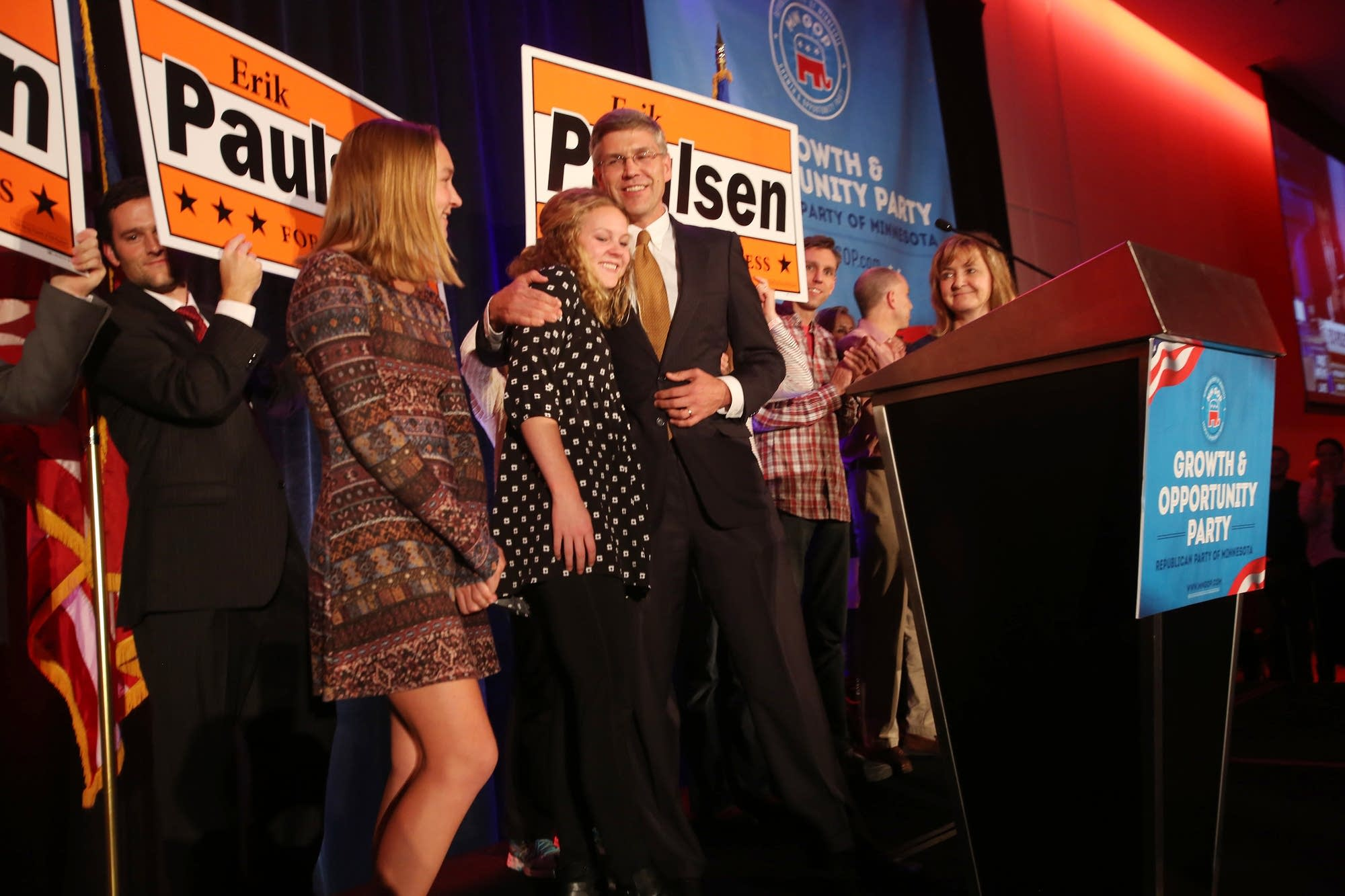 Paulsen celebrates his win.