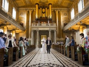 wedding at the Old Royal Naval College Chapel
