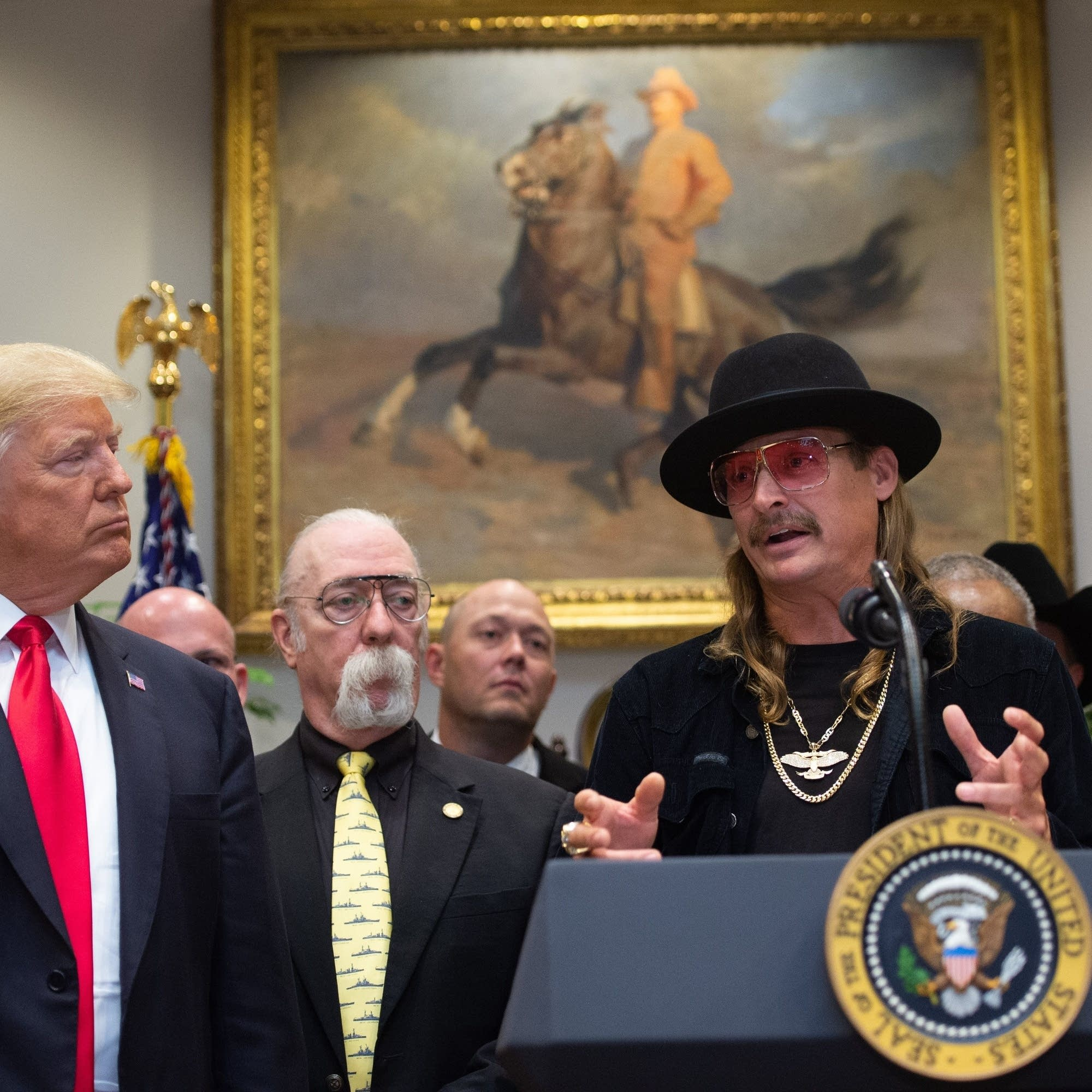 Kid Rock speaks at the Music Modernization Act signing ceremony.