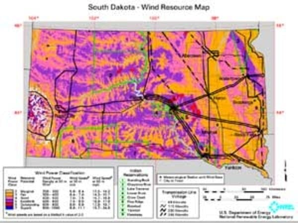 South Dakota's wind potential