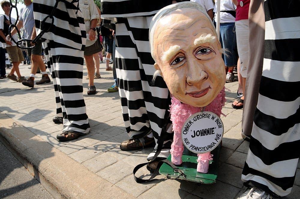Puppet mocking McCain