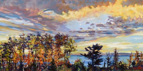 Big Lake Sunset by Dave Gilsvik.
