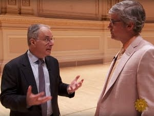 Carnegie Hall's Clive Gillinson with Mo Rocca