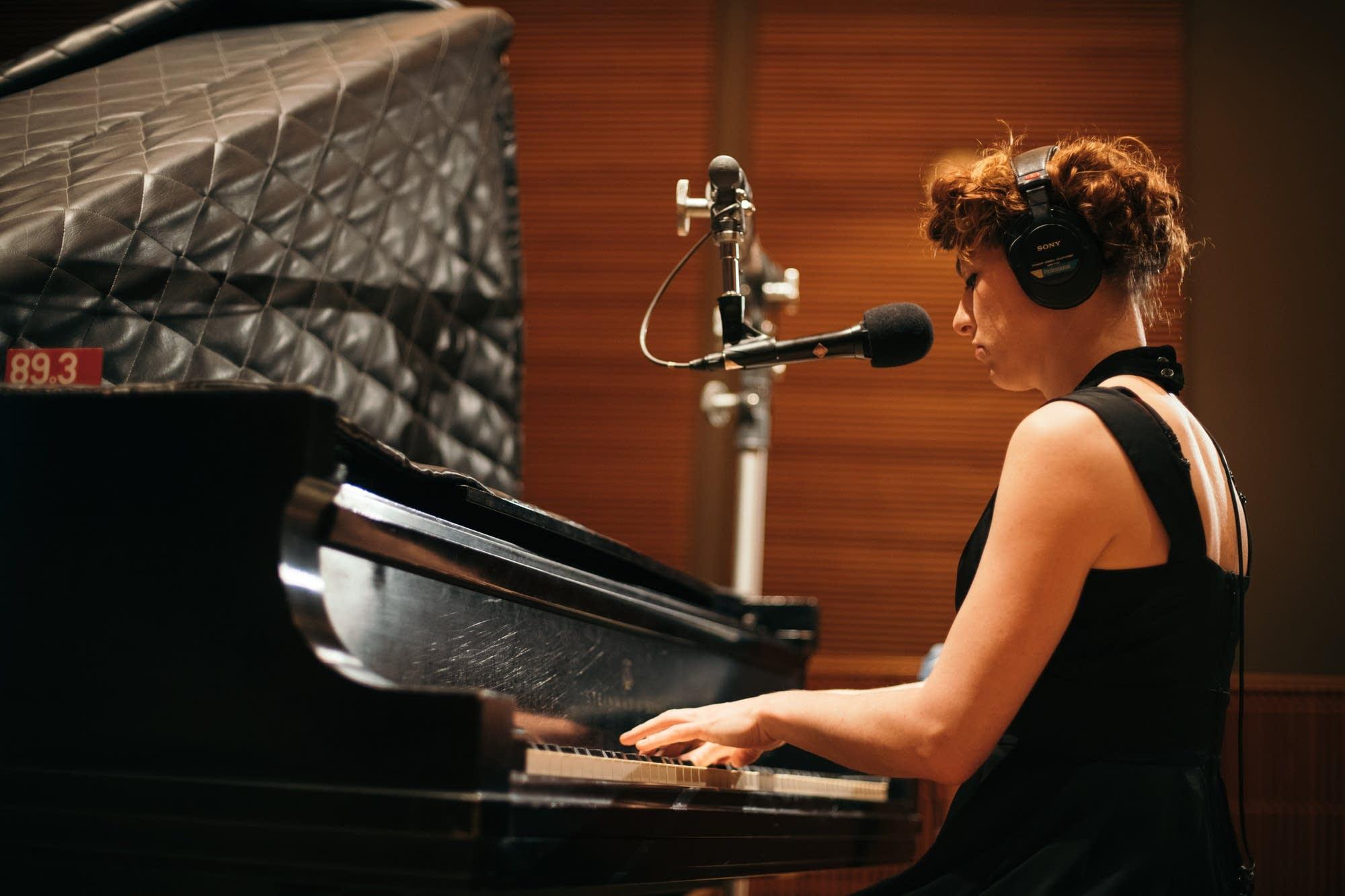 Amanda Palmer performs in The Current studio
