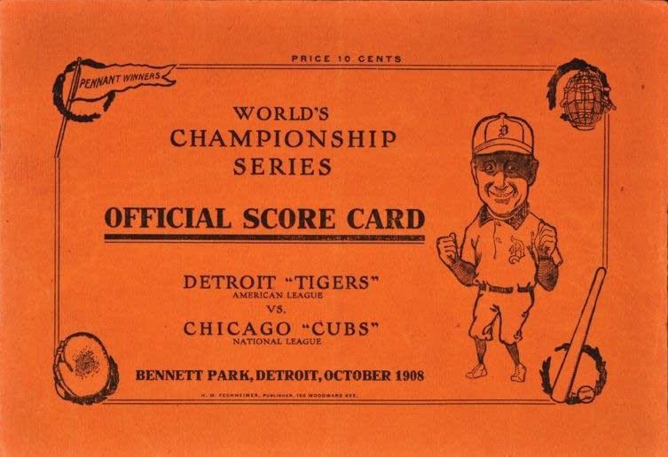 Scorecard for the 1908 World Series