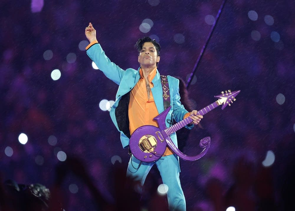 Performing during a Super Bowl halftime show.