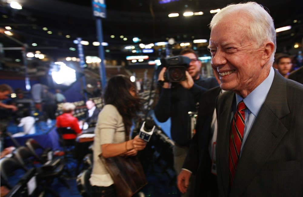 Former President Jimmy Carter at the DNC