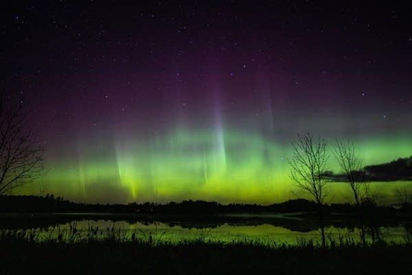Aurora in central Minnesota on October 12