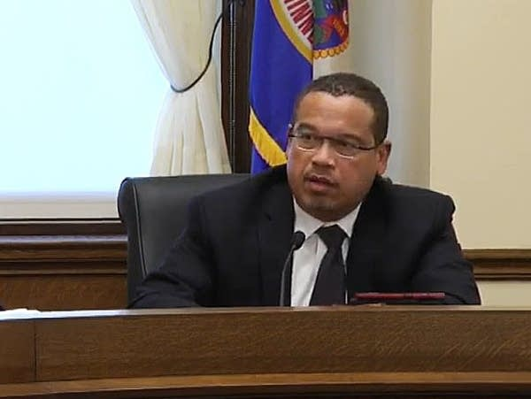Public Safety Commissioner John Harrington, Attorney General Keith Ellison