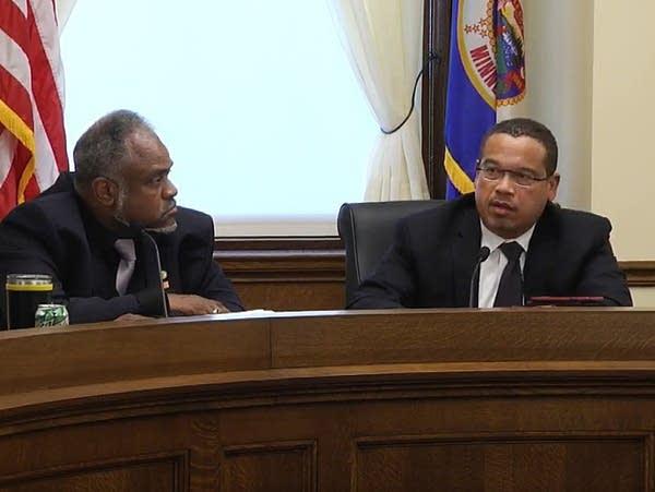 Public Safety Commissioner John Harrington, Attorney General Keith Ellison