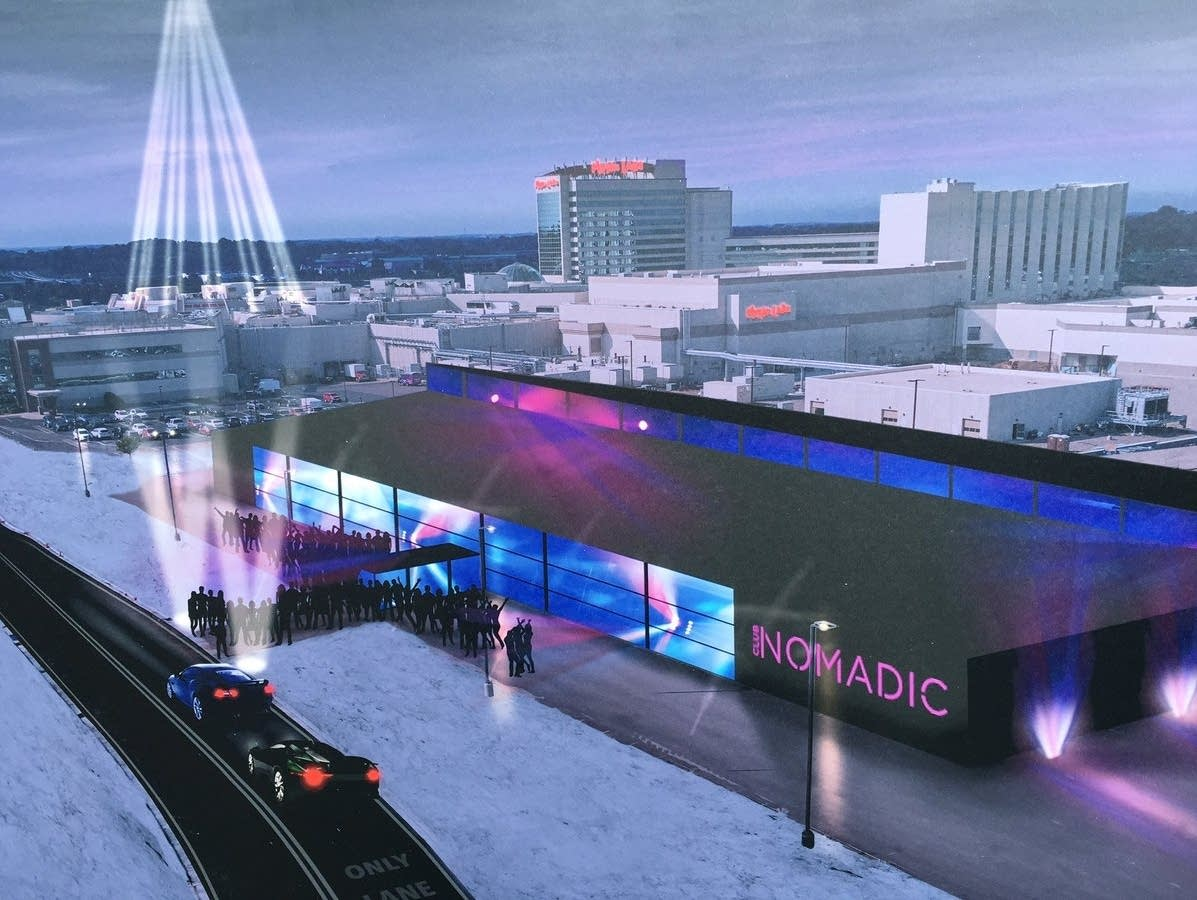 A rendering of the planned Club Nomadic at Mystic Lake Casino.