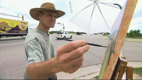 Scott Lloyd Anderson at his easel