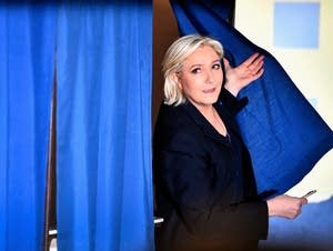 Presidential Candidate Marine Le Pen.