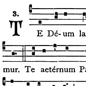 Detail of the Te Deum chant from the Liber Usualis