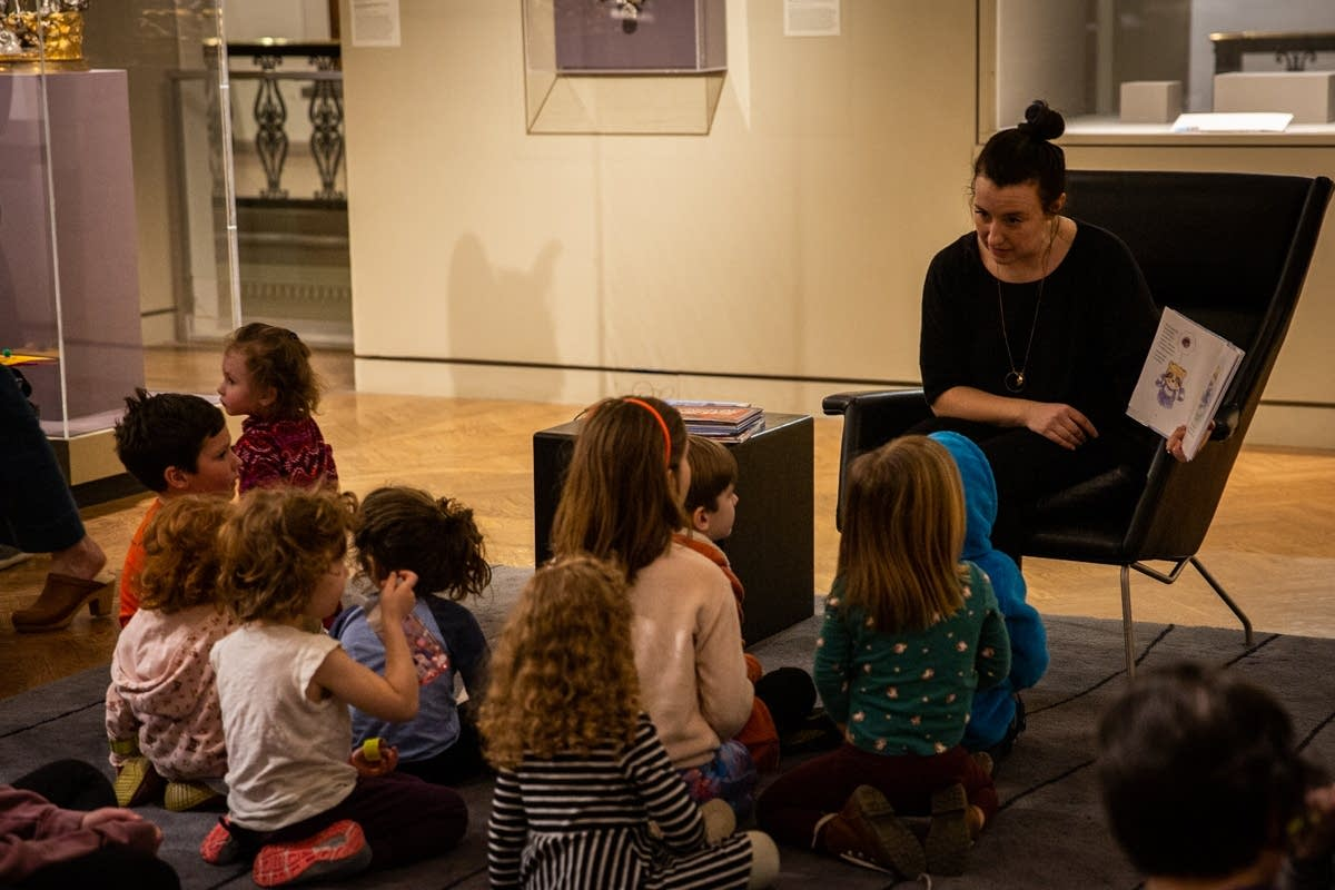 Jade reads at Pop-Up Storytime during Rock the Cradle 2020.