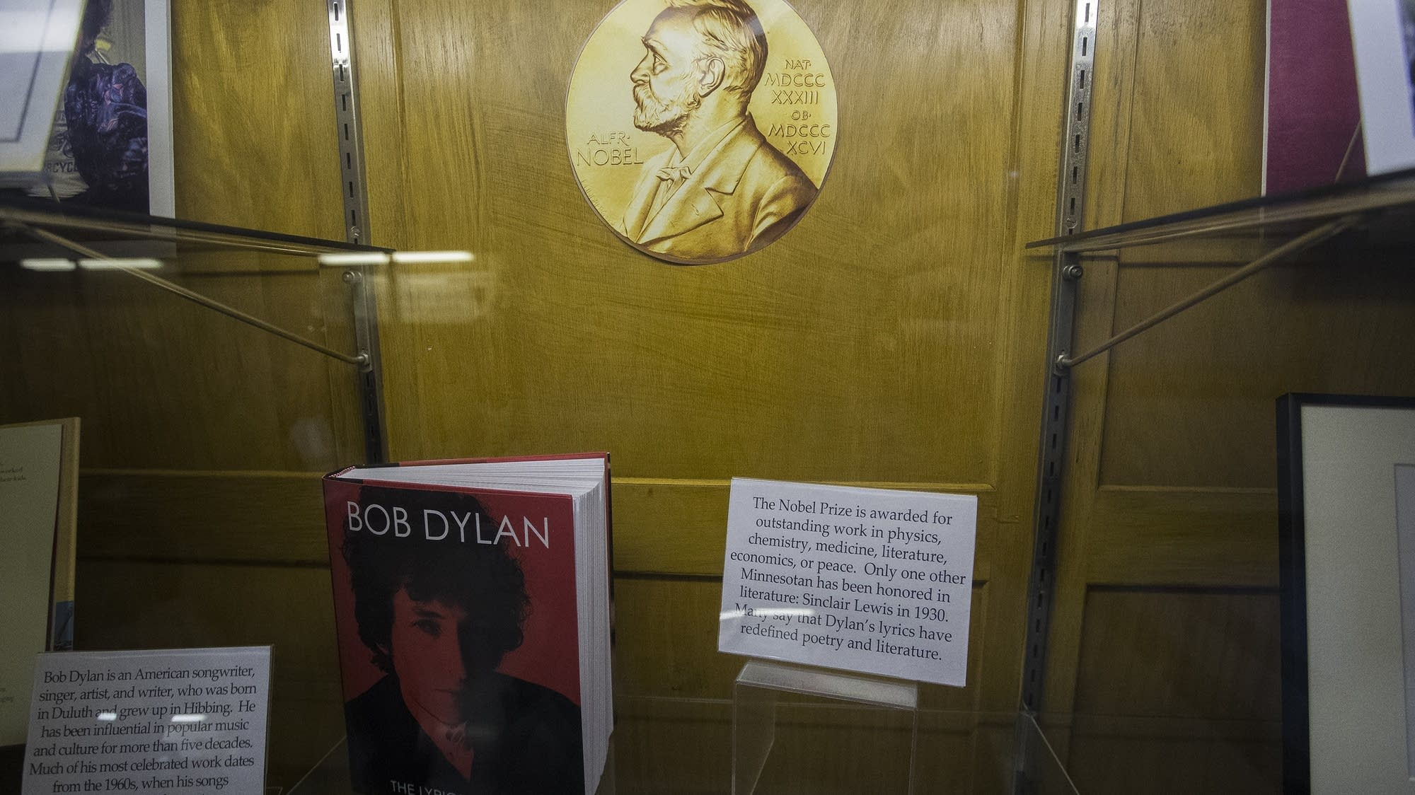 The Bob Dylan exhibit in Hibbing High School