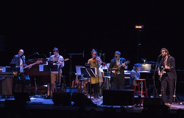 Father John Misty performs with Chris Thile and the band.