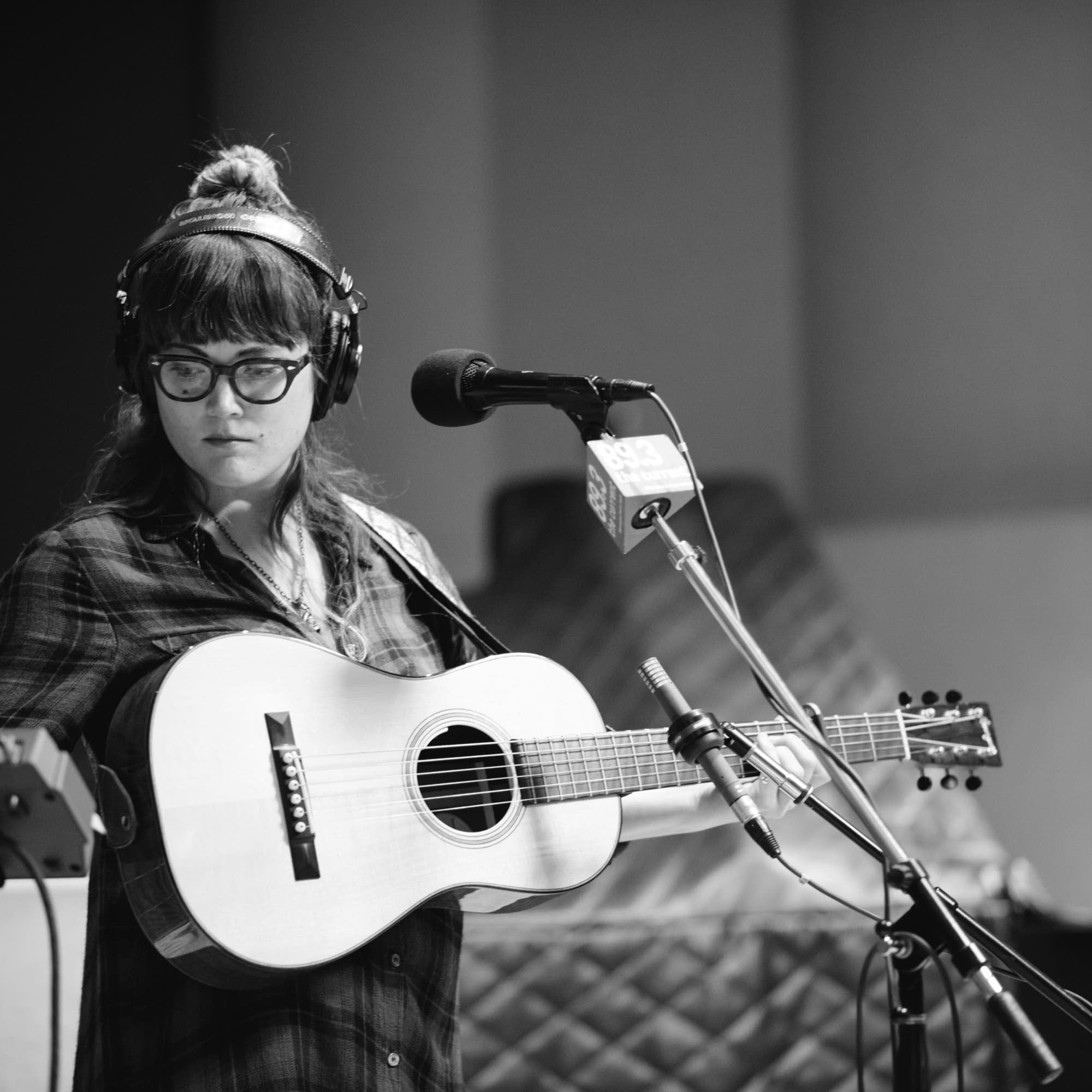 Sara Watkins with her Dana Bourgeois guitar.