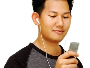 man listening