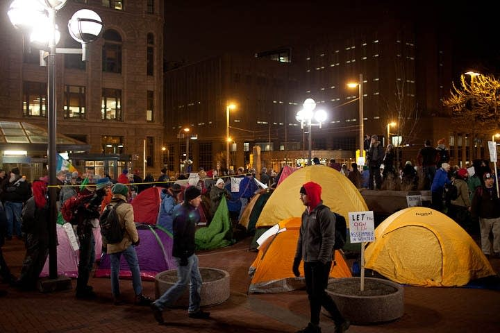 Tent protest