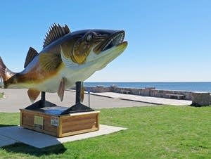 The walleye statue in Garrison, Minn.