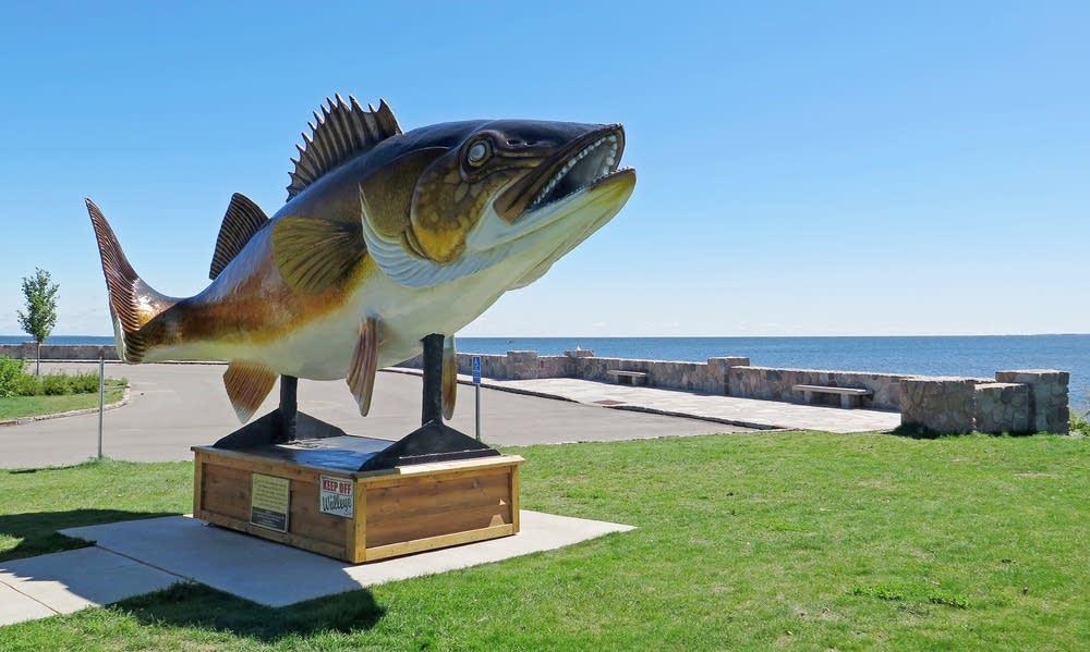 The walleye statue in Garrison, Minn.