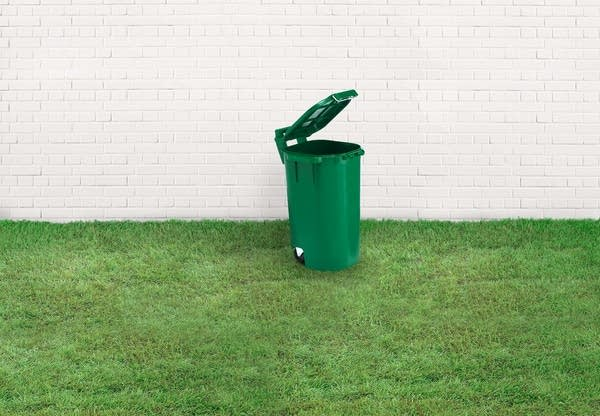 A yard waste bin -- Stock photo from Getty Images
