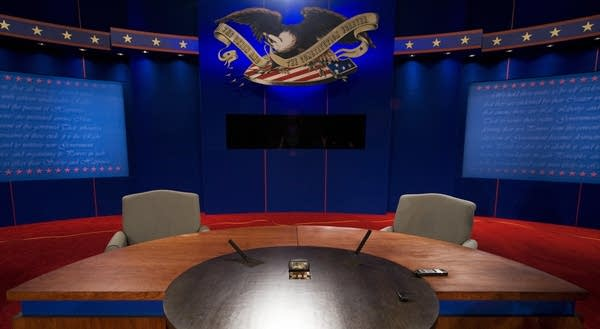The setting of the final presidential debate.