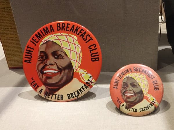 Buttons feature an image of Aunt Jemima