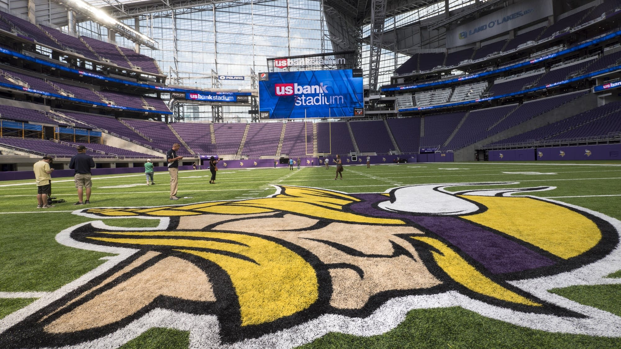 Photos The New Stadium Says The Vikings Are Coming