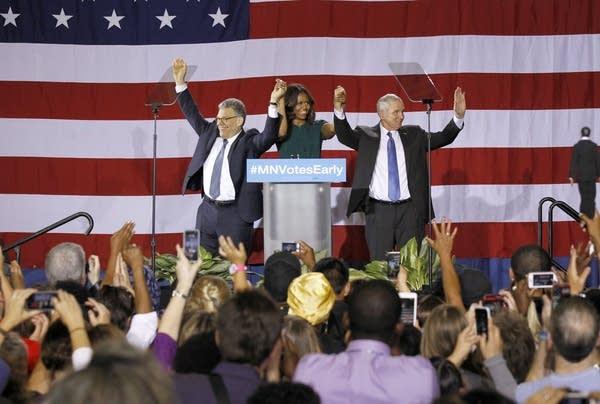 Franken, Obama, Dayton