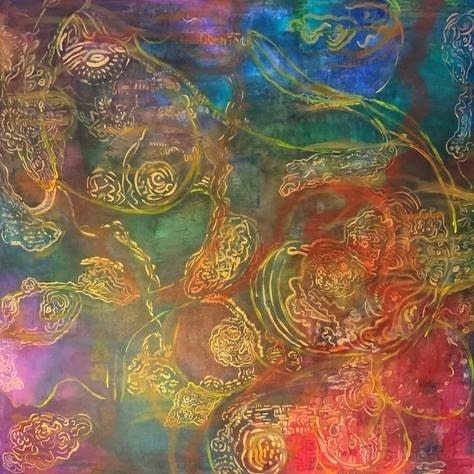 An abstract colorful painting