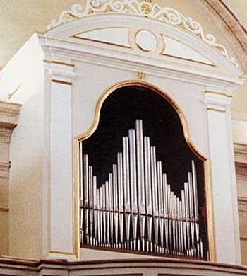 1780 Callido organ at Santa Maria Maggiore, Dardago, Italy