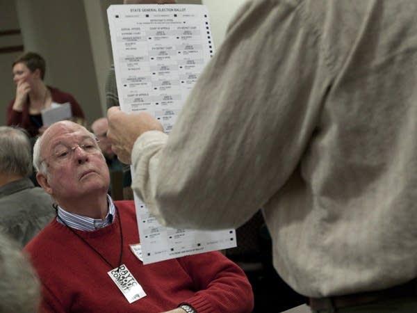 Examining a ballot