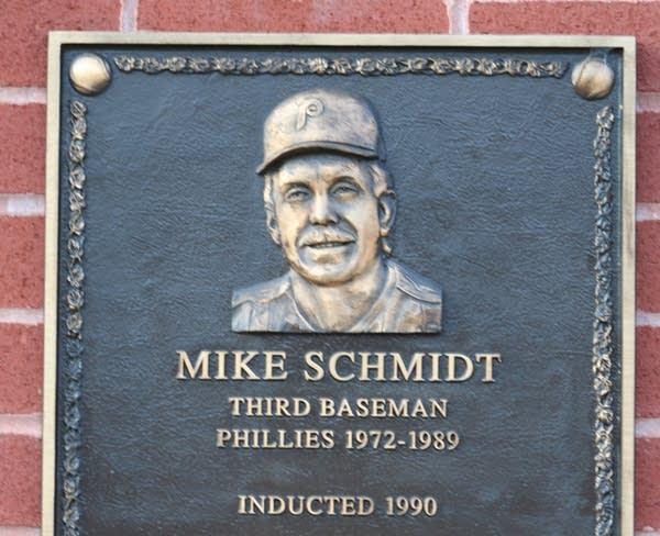 Mike Schmidt's Baseball Hall of Fame plaque