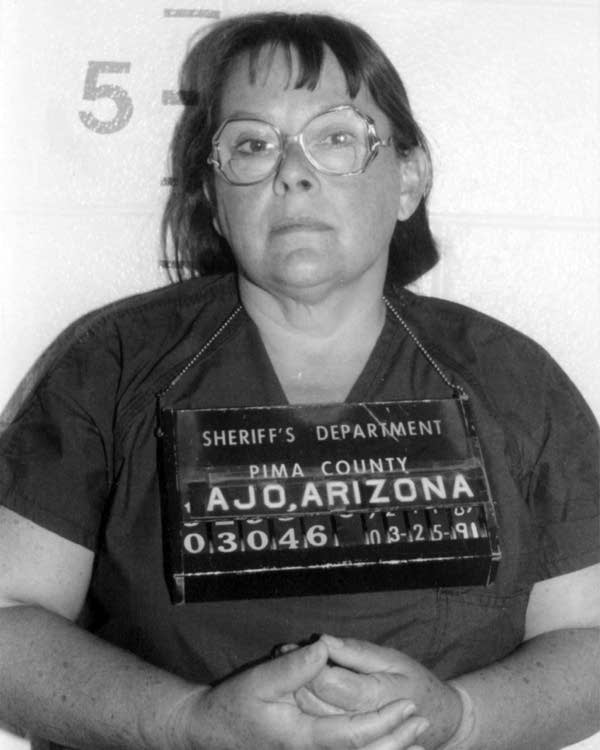 Marjorie Congdon, when she was arrested for arson in Arizona.
