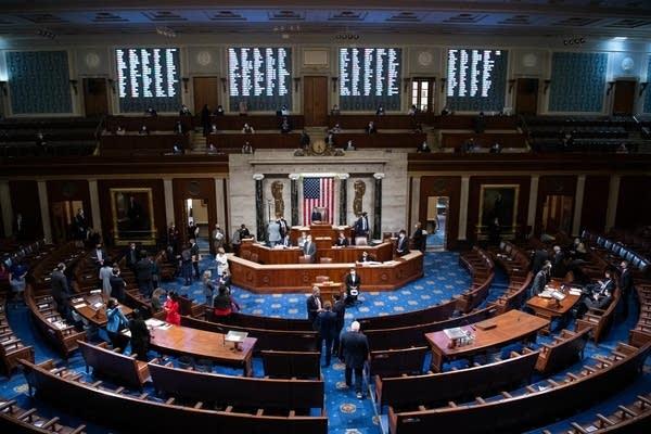 Speaker Nancy Pelosi, D-Calif., presides over the House