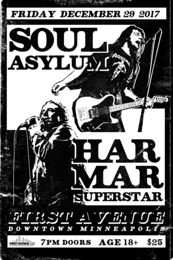 Soul Asylum and Har Mar Superstar poster