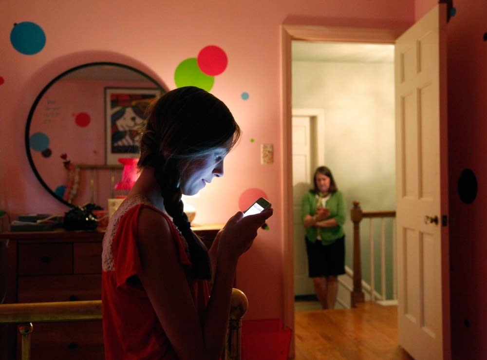 Texting.