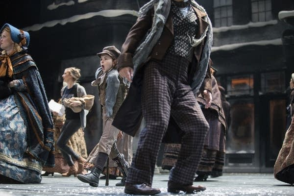 The cast of 'A Christmas Carol' rehearse for the late November production.