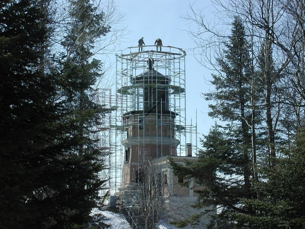 Lighthouse in scaffolding
