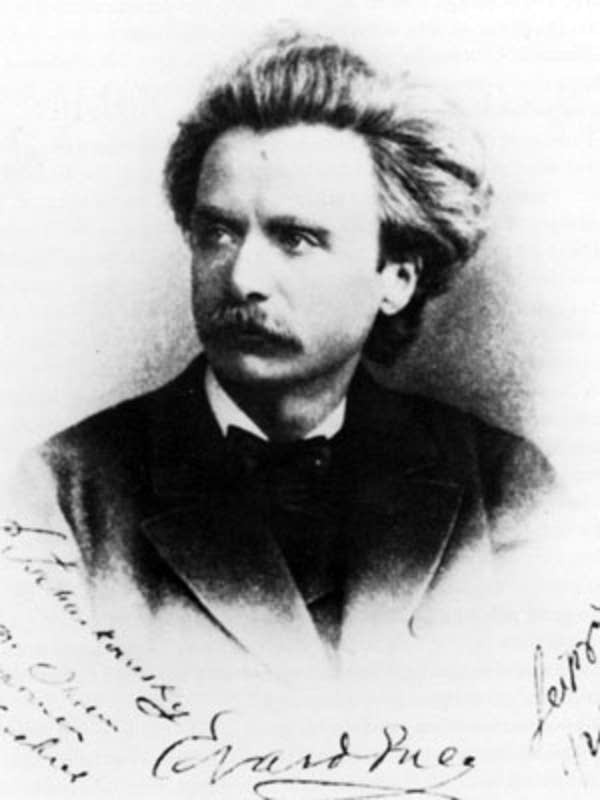 Photograph that Grieg dedicated to Tchaikovsky