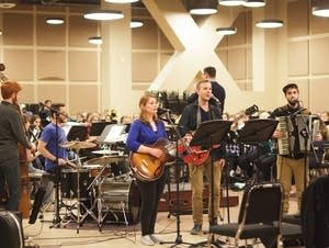 The Paper Days rehearse with the North Star Campus Band