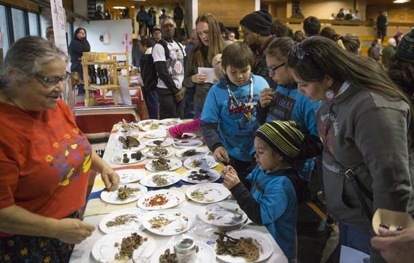 Hope Flanagan educates people on foods native to Minnesota